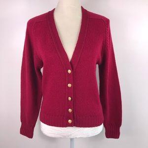 Pendleton Vintage Virgin Wool Cardigan -D13